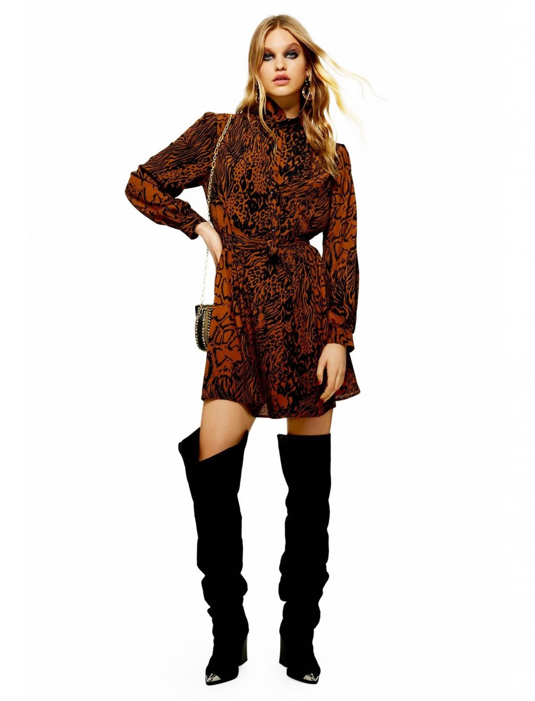"Snake Shirt Dress {""id"":5,""product_section_id"":1,""name"":""Clothing"",""order"":5} Topshop"