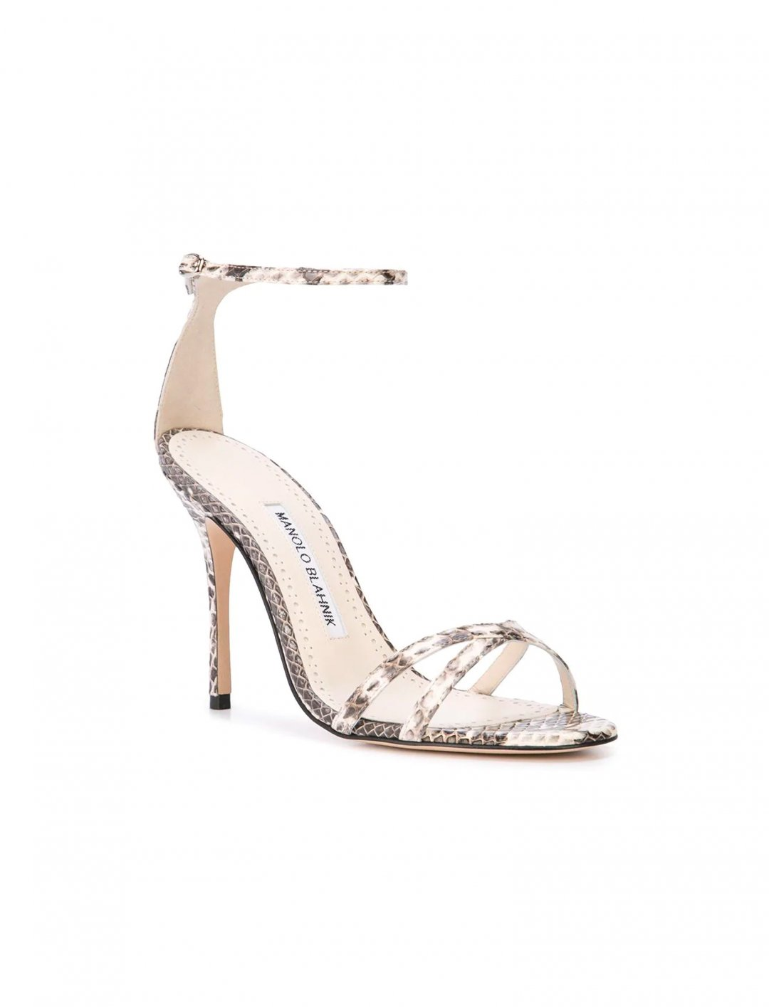 "Snakeskin Sandals {""id"":12,""product_section_id"":1,""name"":""Shoes"",""order"":12} Manolo Blahnik"
