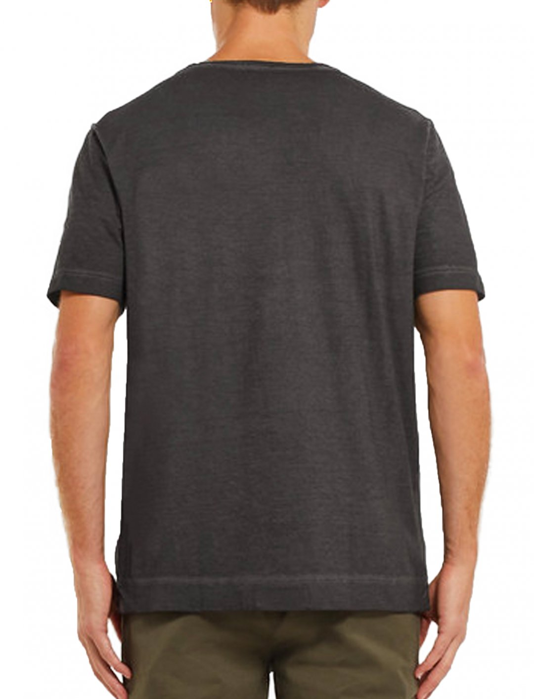 "T-Shirt In Washed Black {""id"":5,""product_section_id"":1,""name"":""Clothing"",""order"":5} Massimo Alba"