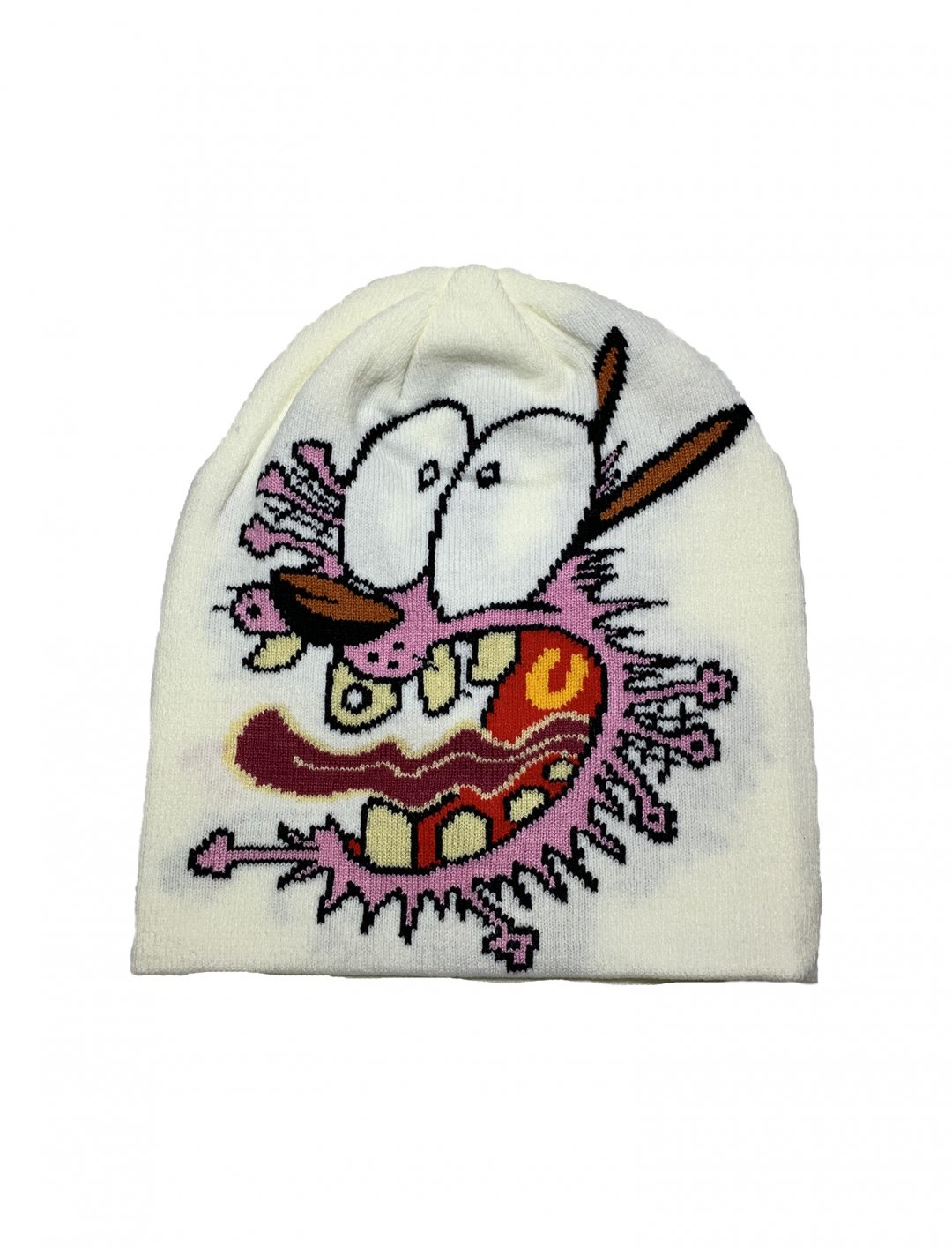 "The Cowardly Dog Beanie {""id"":16,""product_section_id"":1,""name"":""Accessories"",""order"":15} Slumpy Kev"