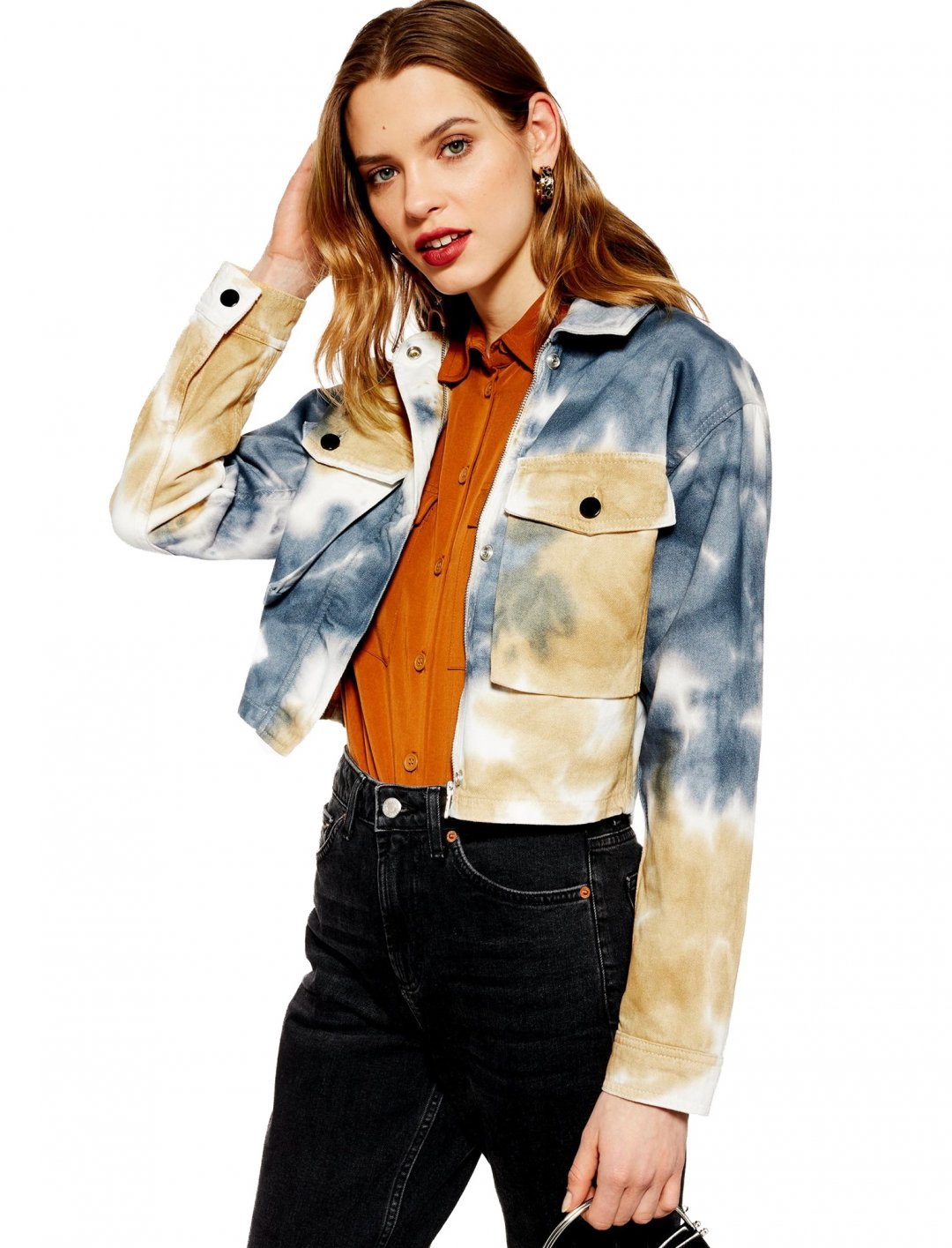 "Tie Dye Shacket {""id"":5,""product_section_id"":1,""name"":""Clothing"",""order"":5} Topshop"