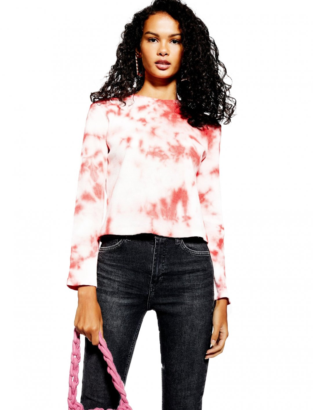 "Tie Dye Waffle Top {""id"":5,""product_section_id"":1,""name"":""Clothing"",""order"":5} Topshop"