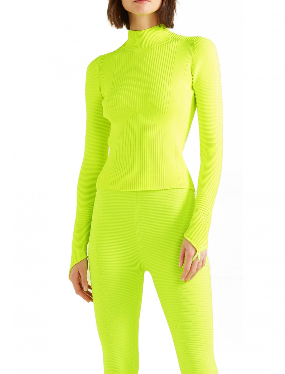 "Turtleneck Top In Neon {""id"":5,""product_section_id"":1,""name"":""Clothing"",""order"":5} Adam Selman Sport"