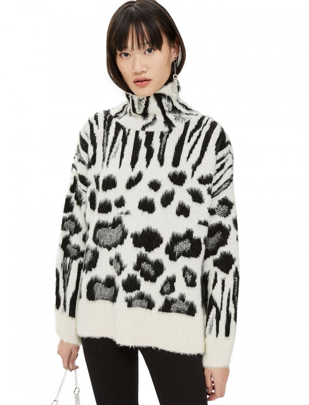 "Zebra Print Jumper {""id"":5,""product_section_id"":1,""name"":""Clothing"",""order"":5} Topshop"