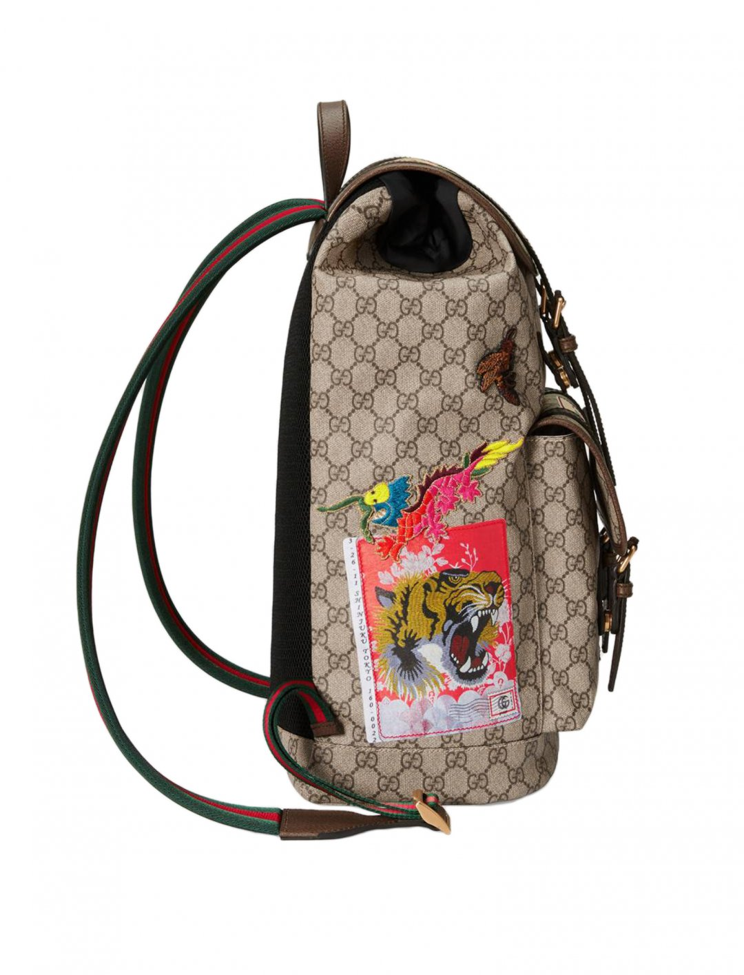 b91102f7dbc91c Dappy Backpack, Gucci, With Appliques from Comfortable Music Video