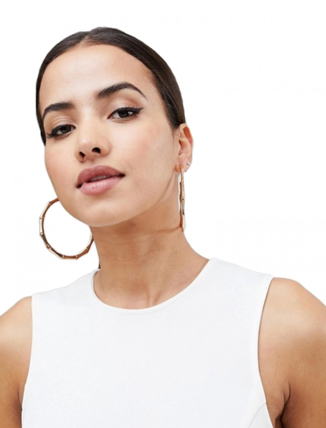 "Bamboo Hoop Earrings {""id"":16,""product_section_id"":1,""name"":""Accessories"",""order"":15} DesignB London"