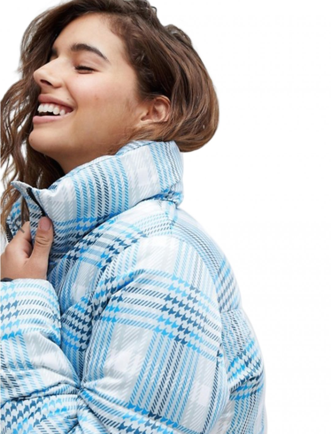 "Check Puffer Jacket {""id"":5,""product_section_id"":1,""name"":""Clothing"",""order"":5} ASOS DESIGN"