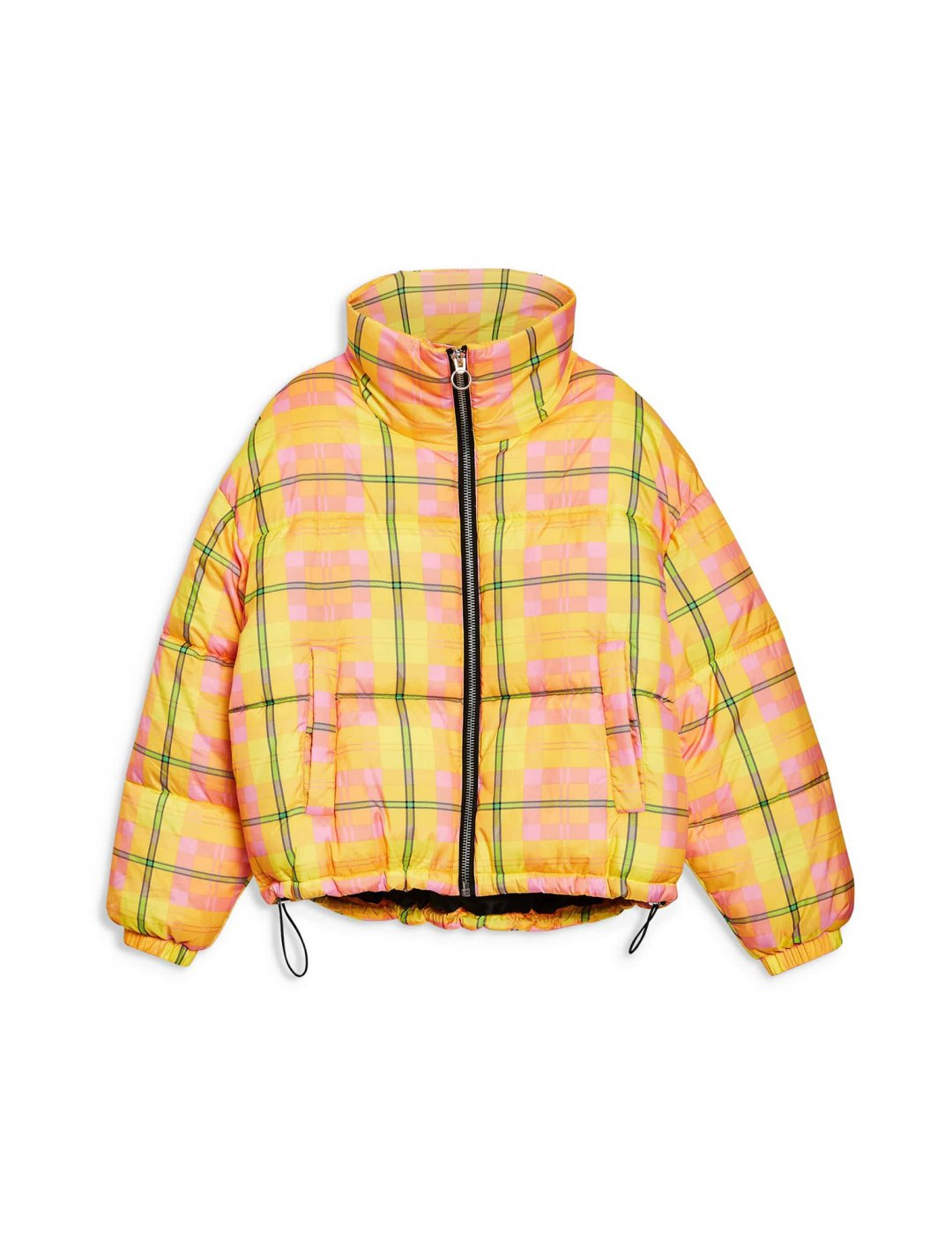 "Check Puffer Jacket {""id"":5,""product_section_id"":1,""name"":""Clothing"",""order"":5} Topshop"