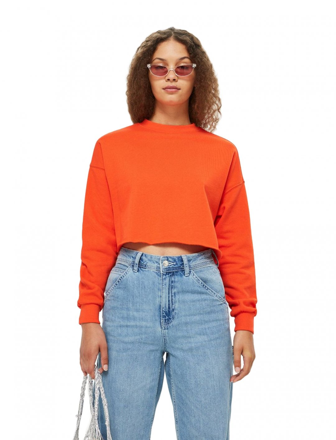 "Crop Sweatshirt {""id"":5,""product_section_id"":1,""name"":""Clothing"",""order"":5} Topshop"