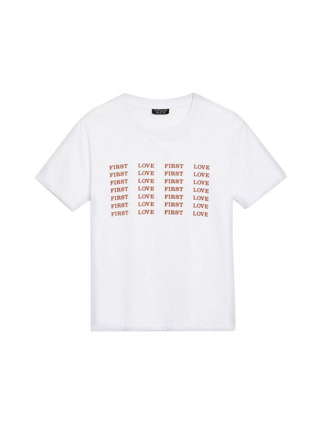"First Love Repeat T-Shirt {""id"":5,""product_section_id"":1,""name"":""Clothing"",""order"":5} Topshop"