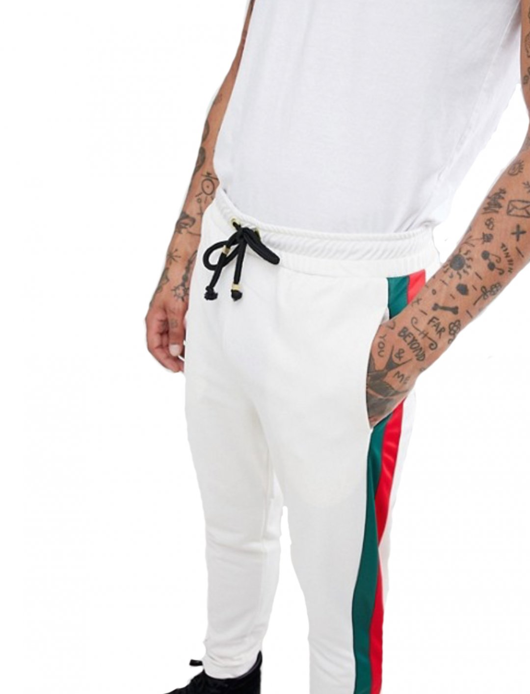 "Joggers In White {""id"":5,""product_section_id"":1,""name"":""Clothing"",""order"":5} Criminal Damage"
