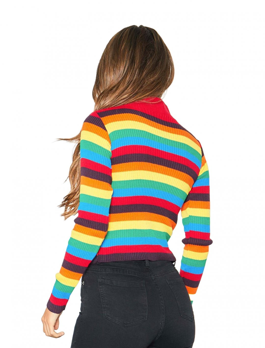 "Multicolour High Neck Jumper {""id"":5,""product_section_id"":1,""name"":""Clothing"",""order"":5} Missy Empire"