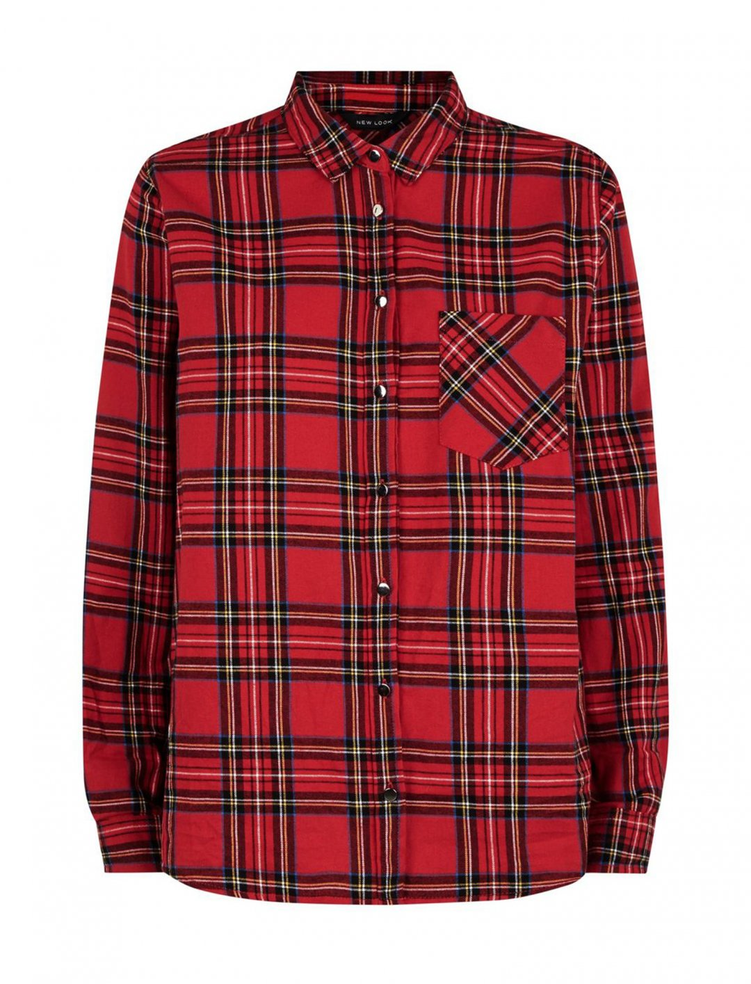 "Plaid Long Sleeve Shirt {""id"":5,""product_section_id"":1,""name"":""Clothing"",""order"":5} New Look"
