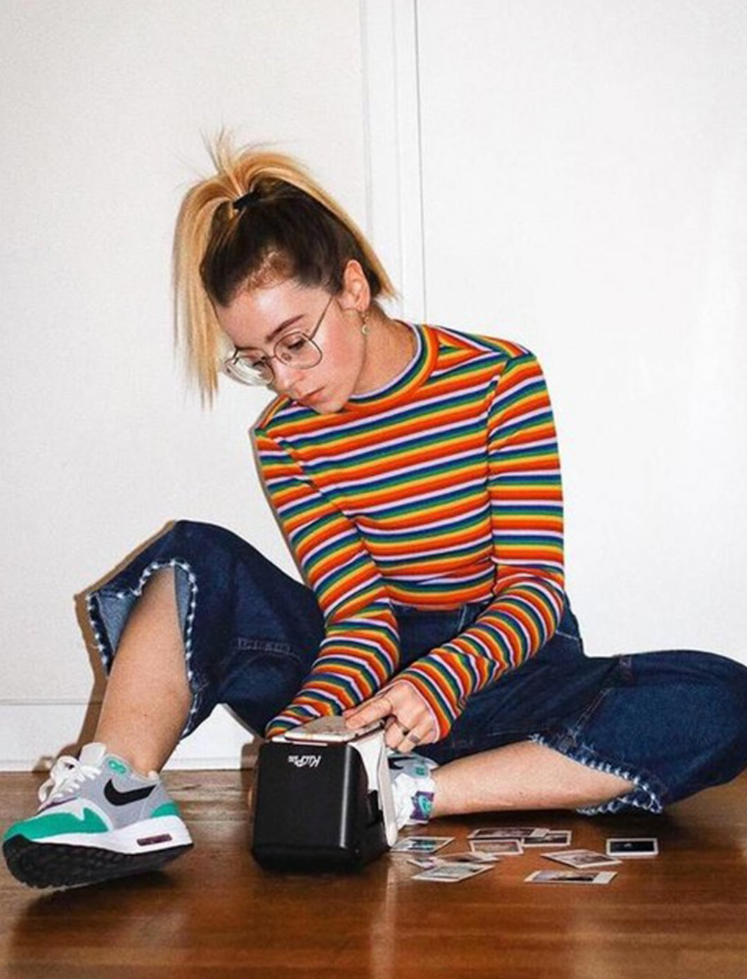 Rainbow Turtleneck Clothing Monki