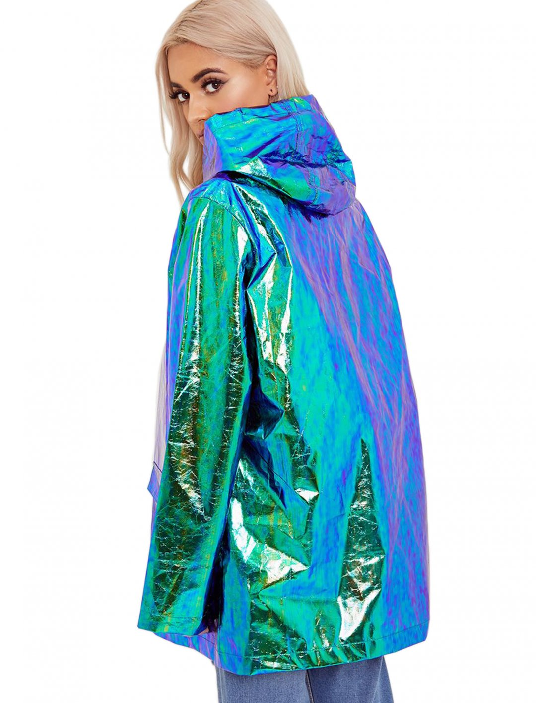 """Holographic Coat {""""id"""":5,""""product_section_id"""":1,""""name"""":""""Clothing"""",""""order"""":5} Pretty Little Thing"""
