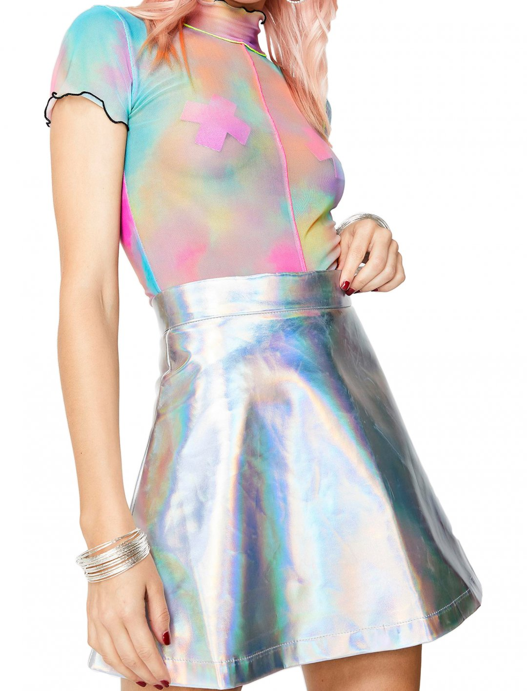 """Holographic Skirt {""""id"""":5,""""product_section_id"""":1,""""name"""":""""Clothing"""",""""order"""":5} Current Mood"""