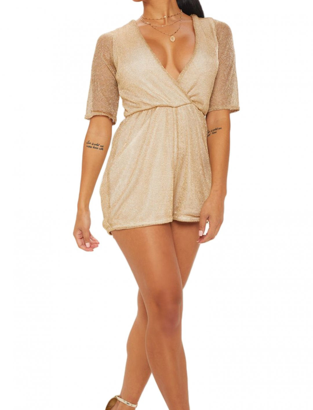 """Wrap Front Playsuit {""""id"""":5,""""product_section_id"""":1,""""name"""":""""Clothing"""",""""order"""":5} Pretty Little Thing"""