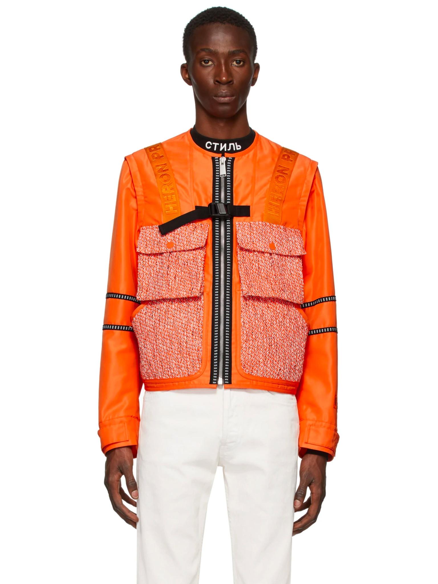 Orange Utility Jacket