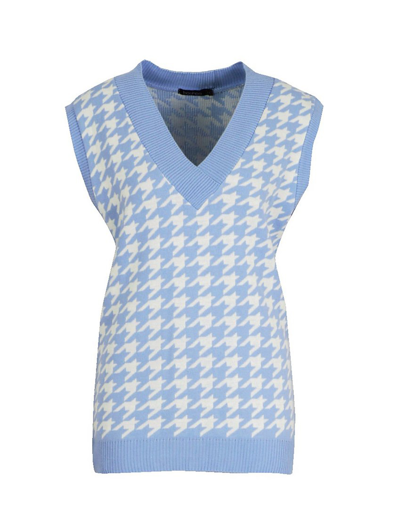 Dogtooth Check Knitted Tank