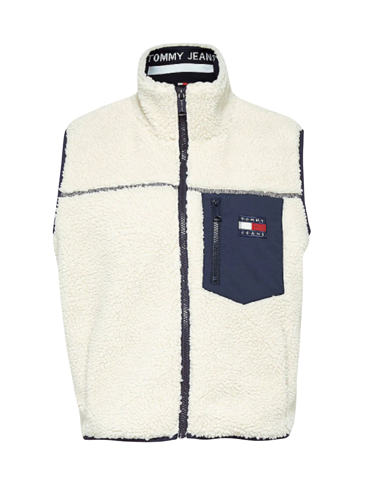 Sherpa Vest In Snow White