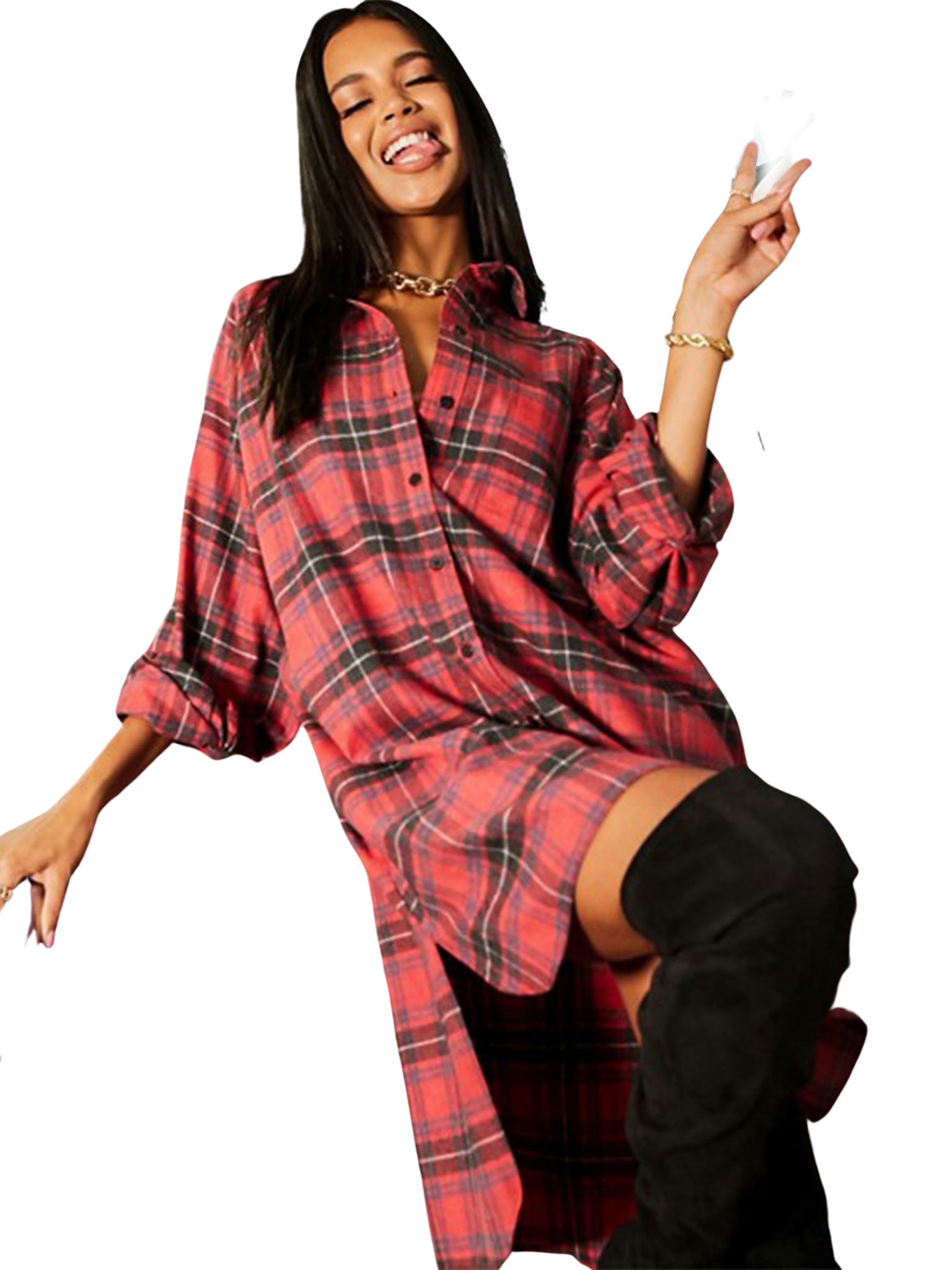 Oversized Boyfriend Mini Shirt Dress