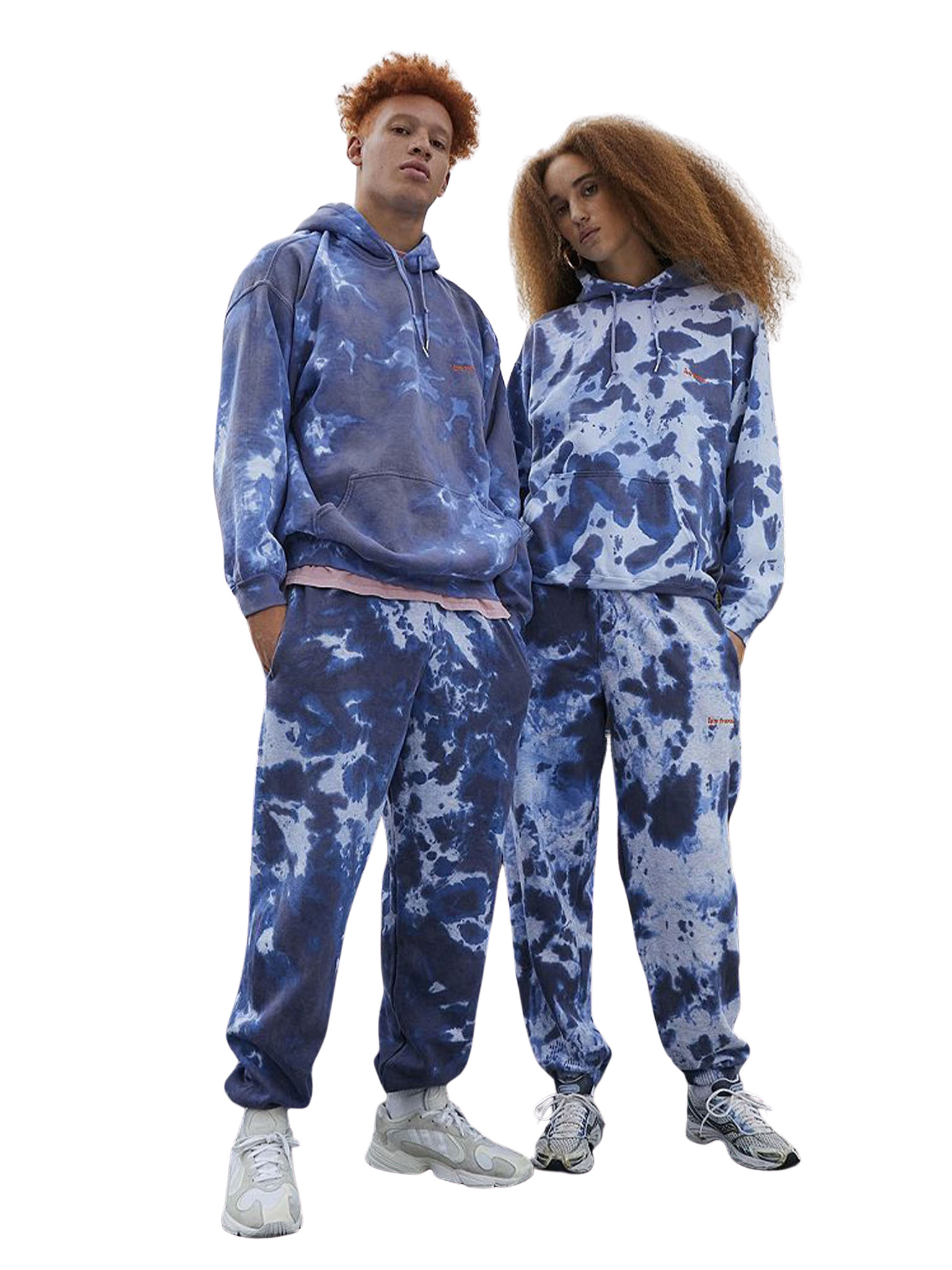 Unisex Indigo Tie-Dye Joggers