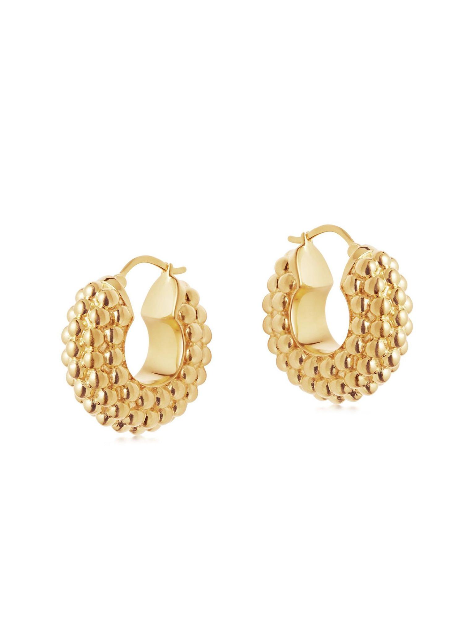 Gold Baya Hoops