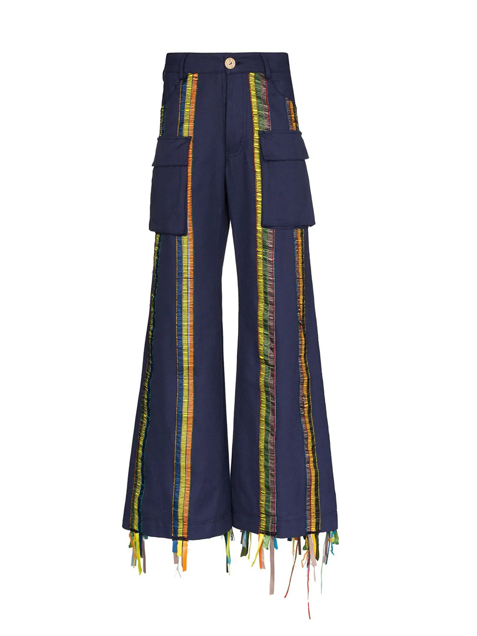 Striped Organic Cotton Trousers