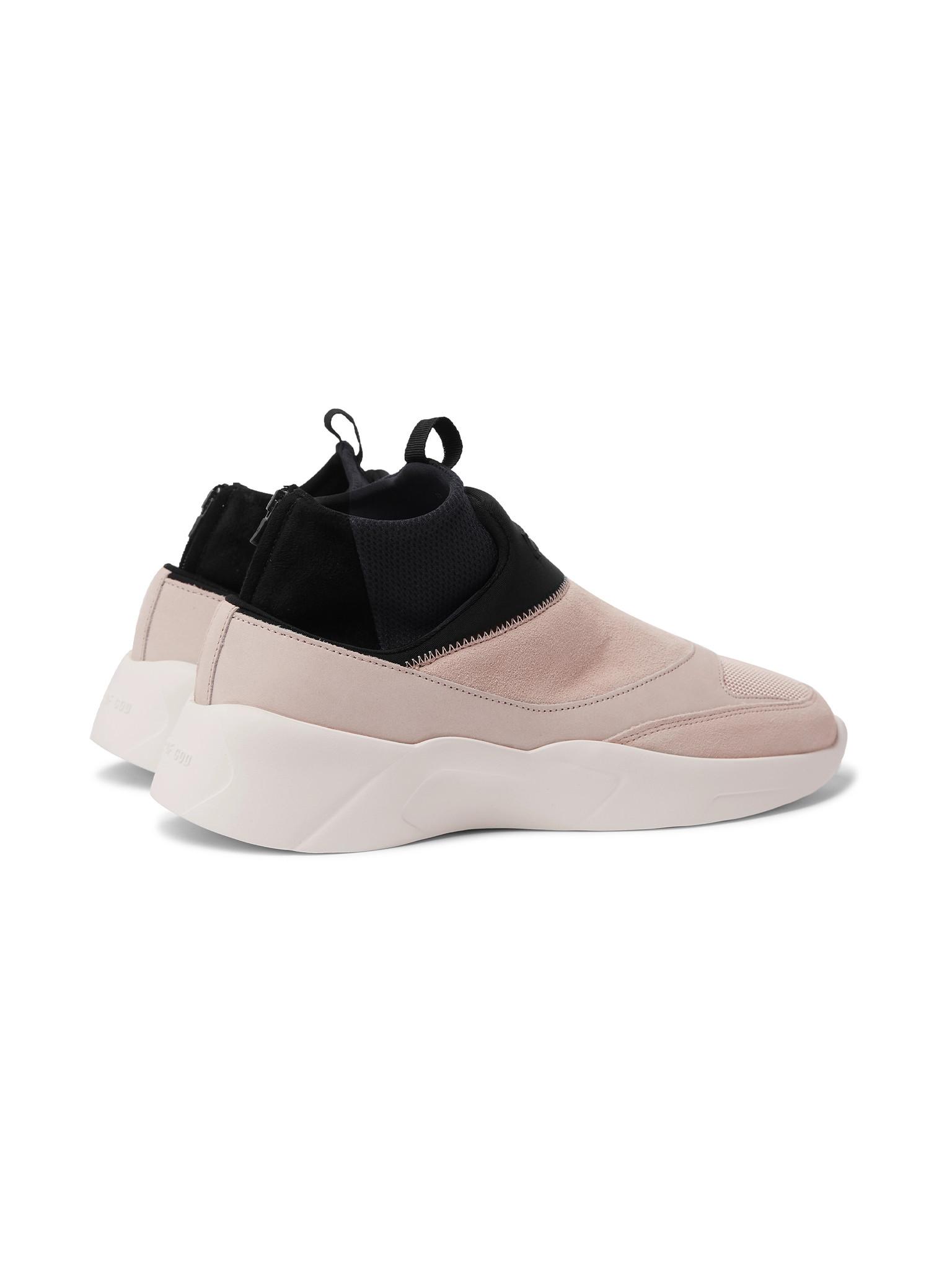 Suede, Mesh And Neoprene Sneakers