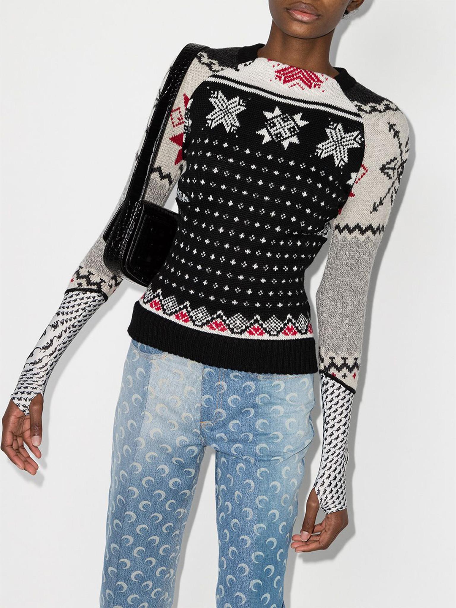 Jacquard Pattern Wool Jumper