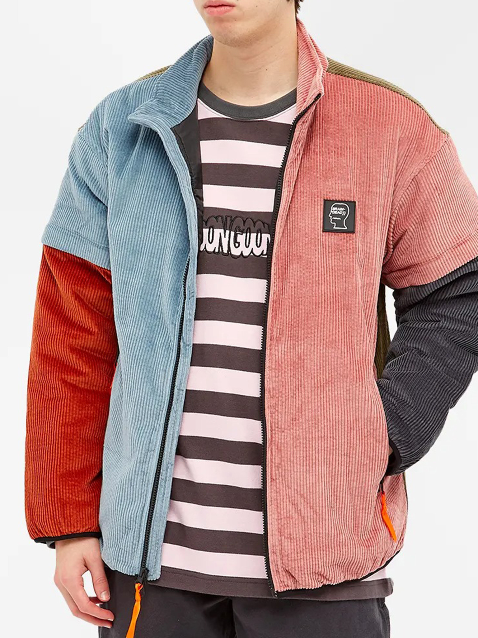 Colour Blocked Micro Puffer Jacket