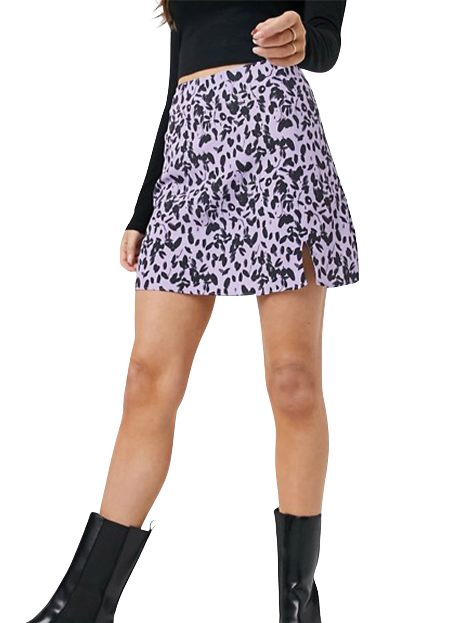 Floral 90/'s Mini Skirt
