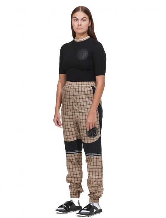 Logo Patch Checked Trousers - MØ