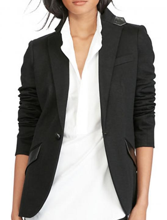 Leather-Trim Blazer - Ruby Francis - Fall Asleep