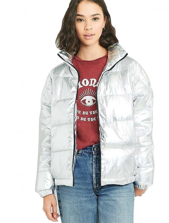 Holographic Cropped Jacket - Lady Leshurr