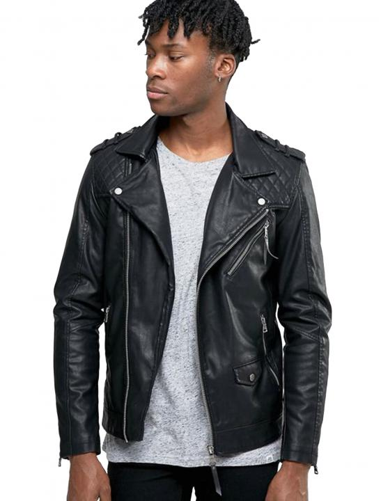 Jacket In Faux Leather - Jodie Abacus