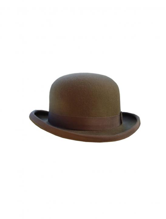 Traditional  Brown Bowler Hat - Jodie Abacus