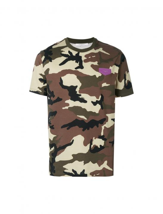 Cuban-fit Camouflage T-shirt - Jodie Abacus