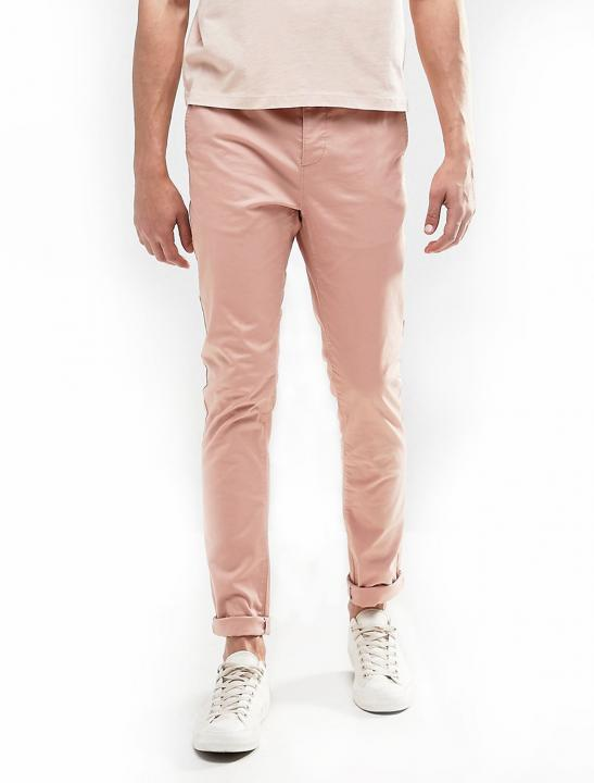 Skinny Chinos In Pink - Big Brother 2017