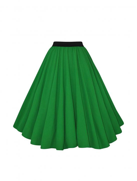 Green Crepe Full Circle Skirt - Big Brother 2017