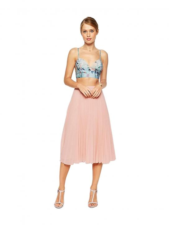Pleated Midi Skirt - Big Brother 2017