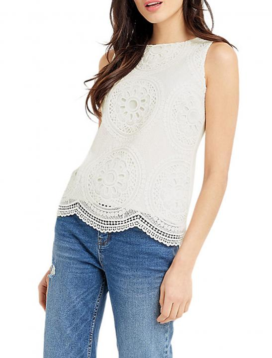 Deco Lace Shell Top - Big Brother 2017