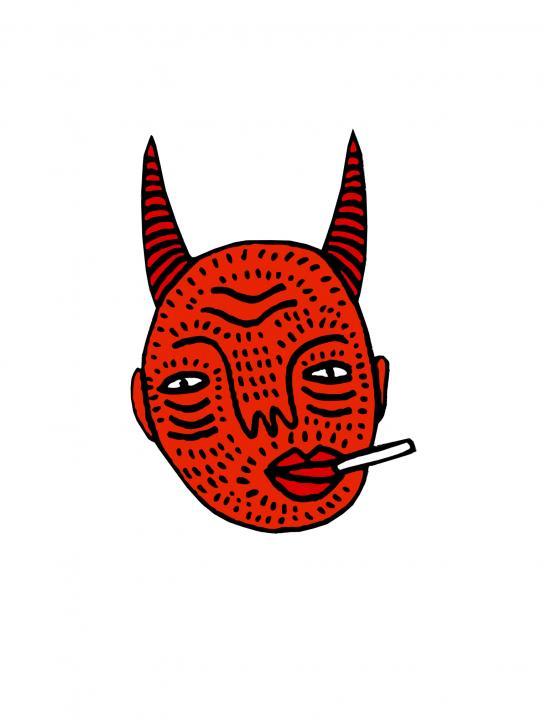 Devil Head T-Shirt - The Age Of Luna