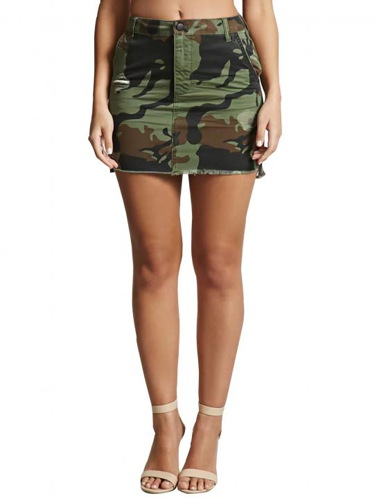 Camo Mini Skirt - 5 After Midnight - Up In Here