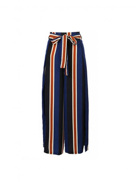 Striped Wide Leg Pants - MØ