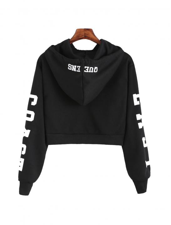 Letters Print Hoodie - MØ - Nights With You