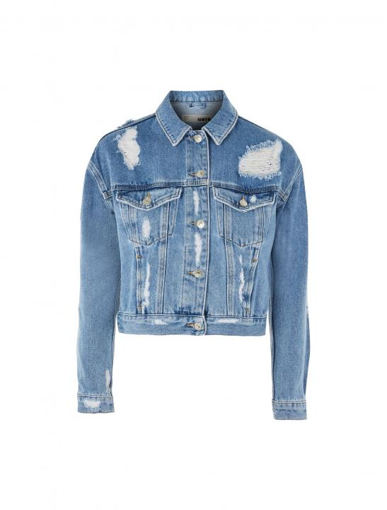 Ripped Denim Jacket - 5 After Midnight