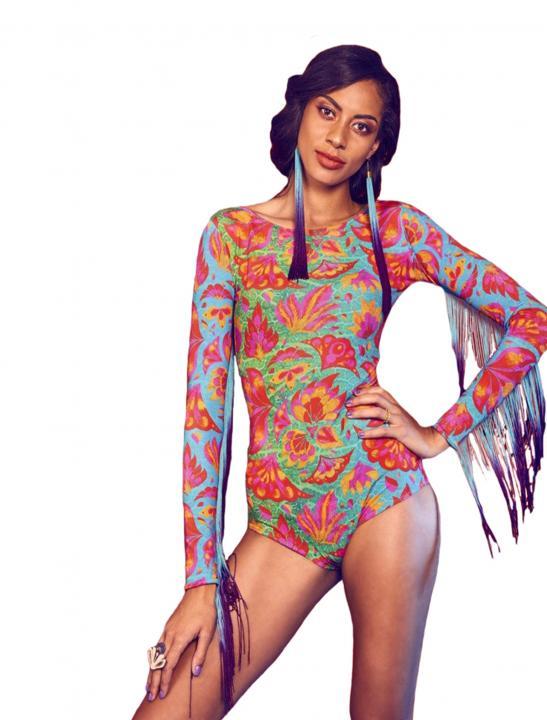 Fringed Festival Bodysuit - Louisa Johnson