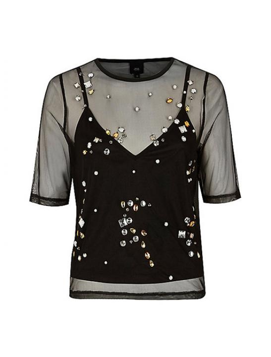 Gem Embellished T-Shirt - Zara Larsson