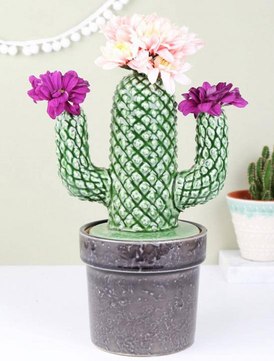 Ceramic Cactus Vase - Celebrity Big Brother Summer